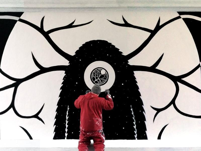 Vægmalerier i Westend-porten i København