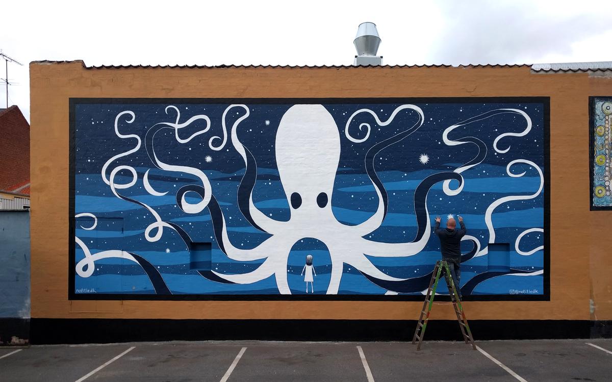 Mural Roskilde Denmark