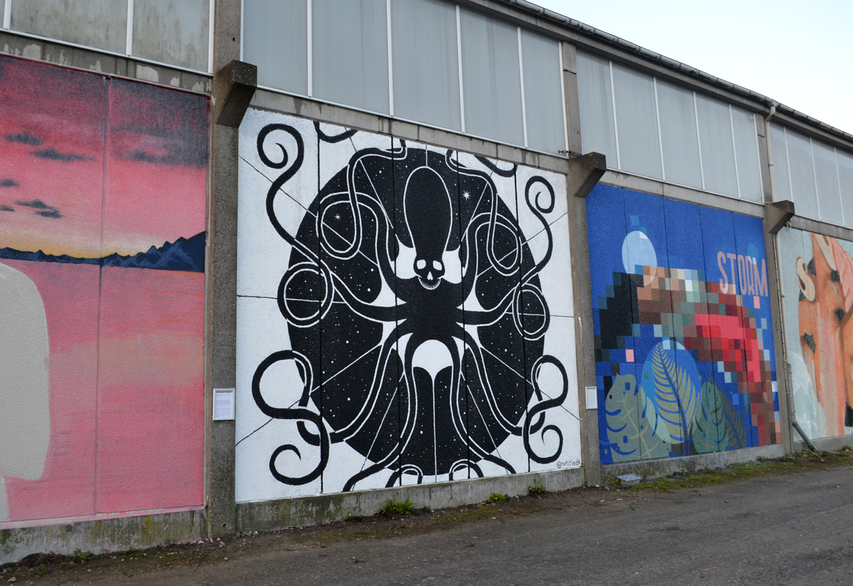 Vægmaleri, Westend Walls, Roskilde