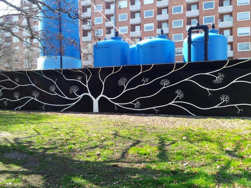Vægmaleri i Aksel Møllers Have, Frederiksberg
