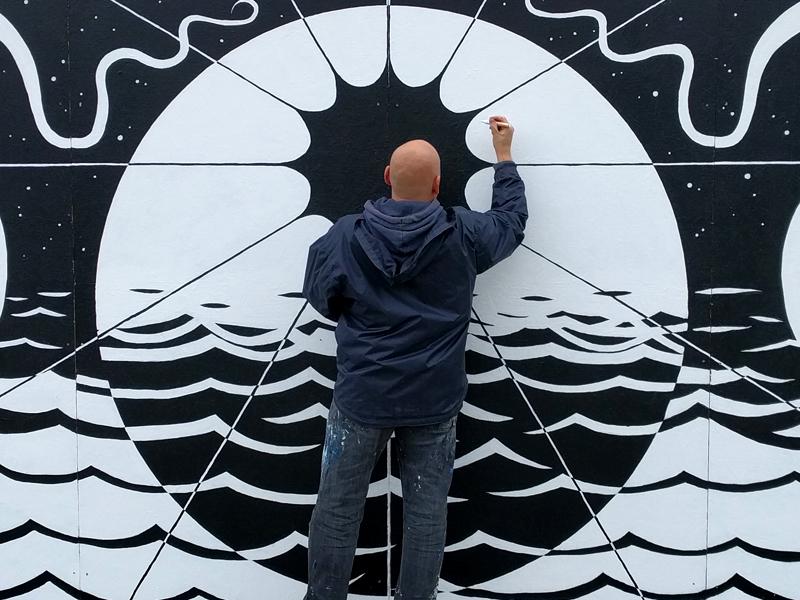 Vægmaleri Ishøj Copenhagen Art Run