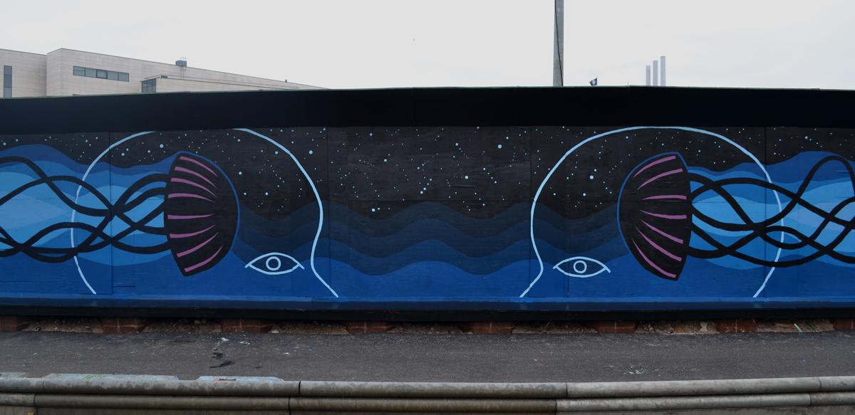 Mural in Nordhavn, Copenhagen
